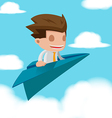 Man Business Fly Paper Plane vector image vector image