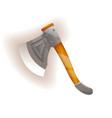 medieval knight ax icon vector image vector image