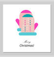 merry christmas happy new year card design vector image