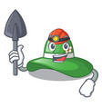 miner beach hat isolated in the with cartoons vector image vector image