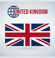 national united kingdom flag isolated on modern vector image vector image