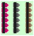 navigation bars vector image vector image