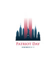 patriot day card with twin towers vector image vector image