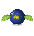 Planet Green Earth vector image vector image