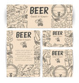 pub food and beer hand drawn template vector image