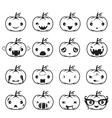 Pumpkin Emoticons Set vector image