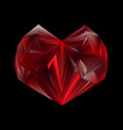 red heart abstract symbol polygonal heart vector image vector image