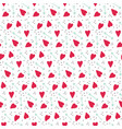 romantic seamless pattern with hearts and arrows vector image vector image