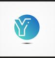 round symbol letter y design minimalist vector image vector image