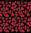 seamless pattern with red heart for valentine day vector image