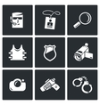 Security Service icons set vector image vector image