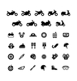 set icons motorcycle vector image vector image