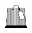 shopping online paper bag with tag price vector image vector image