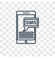 sms concept linear icon isolated on transparent vector image