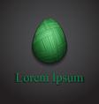 Stylish creative knite easter egg logo sample text vector image