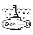 submarine icon outline style vector image
