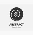 swirl logo design element logotype company vector image vector image