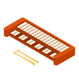 synthesizer icon isometric style vector image vector image