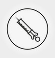 syringe universal icon editable thin vector image