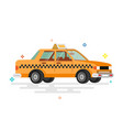 taxi car flat vector image vector image