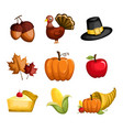 thanksgiving icons vector image