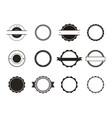 variety vintage badge set vector image vector image