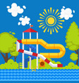 water park colorful poster in vector image