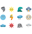 weather smiles icons set vector image