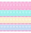 wedding set of lacy ribbons vector image vector image