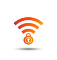 wifi locked sign pass wi-fi symbol wireless vector image
