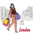 women walking in london vector image vector image