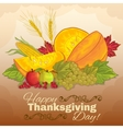 Background with autumn vegetables and fruits vector image