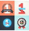 Number One First Place Winner ribbons and badges vector image