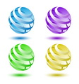 Abstract colorful 3D globe background vector image