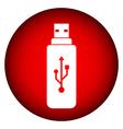Usb flash button vector image