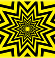 black yellow warning star abstract background vector image