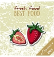 Healthy Food Strawberry vector image