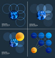 abstract design of colourful elements for vector image vector image