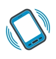 An incoming call to the phone flat icon vector image