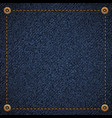 background of blue denim fabric vector image