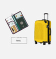 baggage travels trip to world sketch vector image
