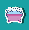 bathtub foam bubbles sticker bathroom vector image