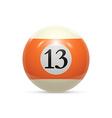 Billiard thirteen ball isolated on a white