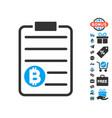 bitcoin price list icon with free bonus vector image vector image