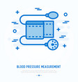 blood pressure measurement thin line icon vector image