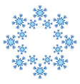 blue snowflake snow winter decoration season vector image