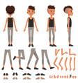 boy character creation set student boy vector image vector image