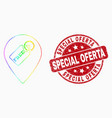 bright pixelated free tag marker icon and vector image vector image