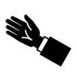 businessman hand icon simple style vector image