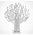 ccircuit board shaped tree vector image